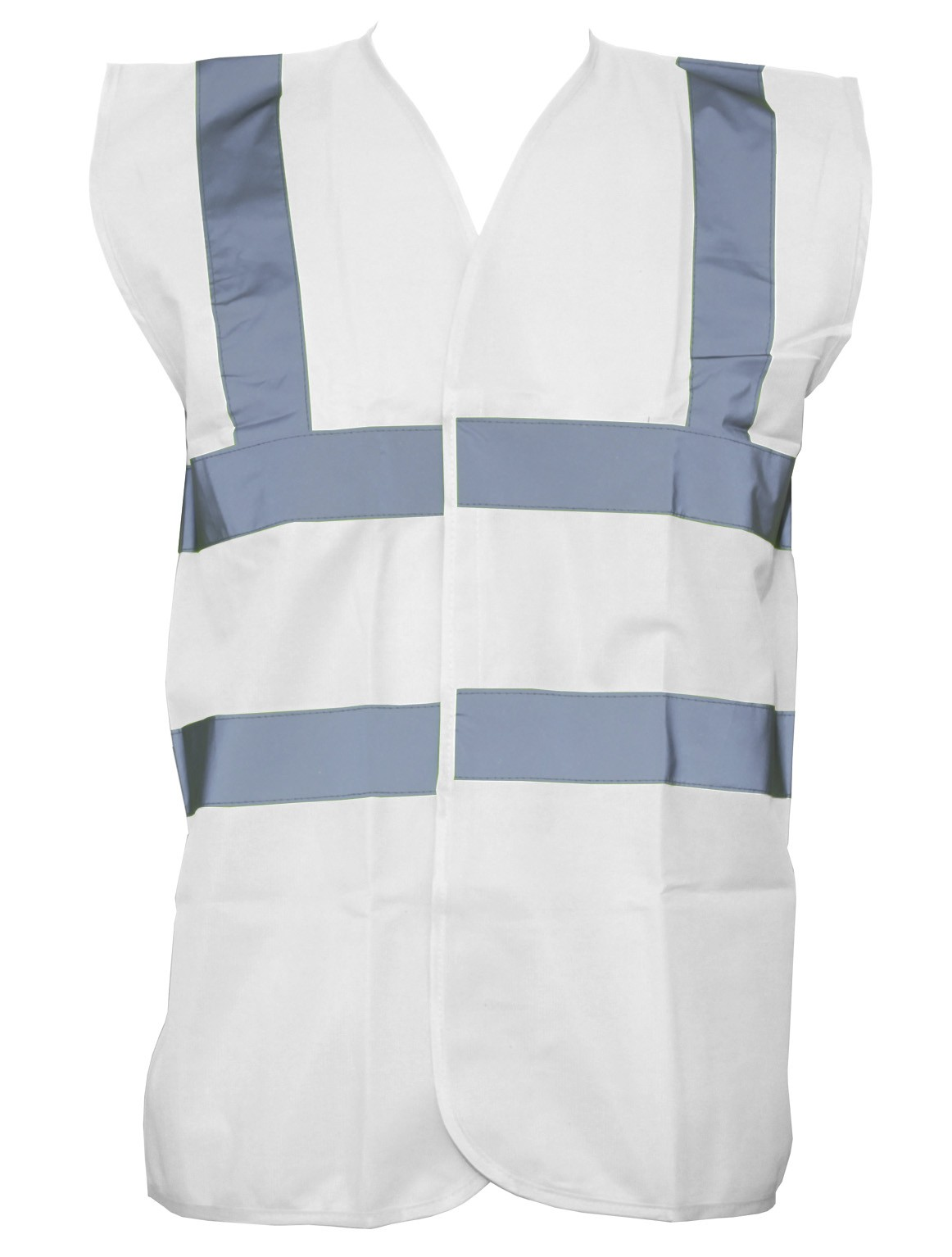 White High Visibility Vest Branded Safety Workwear